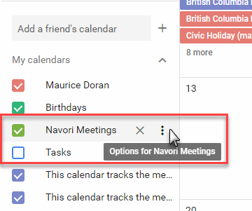 Using Google calendar fields in your templates and tickers